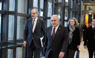 Dominique Strauss-Kahn, directeur du FMI, arrivant au sommet du G20 à Paris, le 19 février 2011