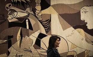 Une reproduction de «Guernica» au siège des Nations unies à New York.
