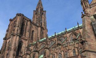 La cathédrale de Strasbourg, le 16 avril 2019.