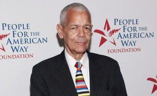 Julian Bond, l'une des grandes figures de la lutte des Noirs américains pour l'obtention de l'égalité des droits civiques, le 21 juin 2012 à Washington