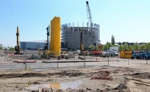 Le chantier du Quartier d'affaires international du Wacken, au pied du Parlement européen
