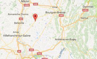 L'accident s'est produit ce mardi 30 mai à Châtillon-sur-Chalaronne, dans l'Ain.