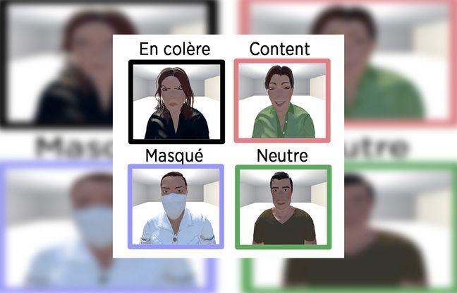 Exemple de personnages présentés aux sondés.