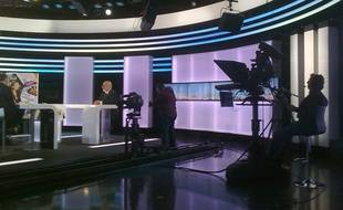 Photo d'illustration. Un plateau de la RTBF.