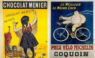 Des exemples d'affiches ou de cartes postales en vente jusqu'à vendredi