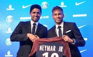 Nasser Al-Khelaïfi et Neymar, les deux meilleurs potes de tout Paris.
