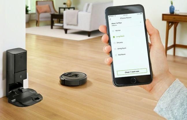 Le Roomba i7+ se pilote depuis une application ou à la voix.