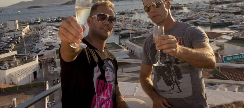 L'acteur porno espagnol Nacho Vidal (à gauche) aux côtés de Rocco Siffredi en 2013.