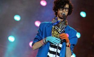 Sliimy sur scène a l'occasion du concert de la Fête de la Musique France 2 au Parc de Bagatelle, le 21 juin 2009.