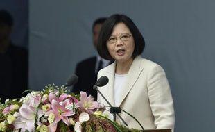 La nouvelle présidente taïwanaise Tsai Ing-wen lors de sa cérémonie d'intronisation à Taipei le 20 mai 2016