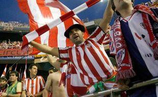 Les supporters de l'Athletic Bilbao, lors de la finale de la Coupe du Roi, le 12 mai 2009 à Valence.