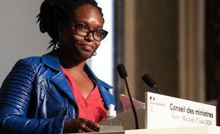 Sibeth Ndiaye lorsqu'elle était porte-parole du gouvernement d'Edouard Philippe.