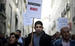 Manifestation contre l'austérité à Lisbonne, le 9 novembre 2013