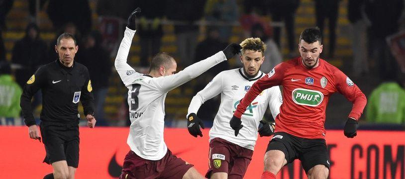 Les Herbiers s'était qualifié après prolongation pour les demi-finales de la Coupe de France, face à Lens, le 27 février 2018.