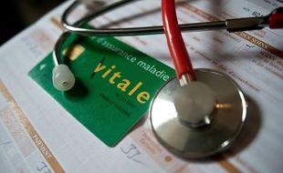 Illustration: carte vitale chez le médecin.