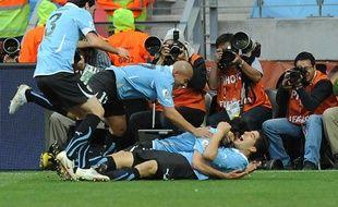 L'Uruguay s'est qualifié pour les quarts de finale de la Coupe du monde 2010, le 26juin.