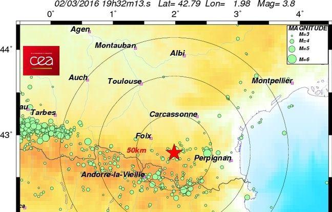 La terre a tremblé dans l'Aude, au pied des Pyrénées