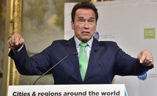 Schwarzenegger le 11 décembre 2017 dans les salons de l'hôtel de Ville de Paris.