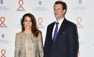 Princesse Marie et Prince Joachim de Danemark le 23 janvier 2020 à Paris