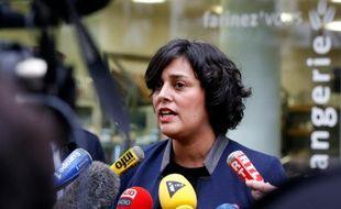 La ministre du Travail Myriam El Khomri le 24 décembre 2015 à Paris