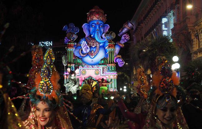 Un char à la gloire du dieu Ganesh, hommage aux studios indiens de Bollywood