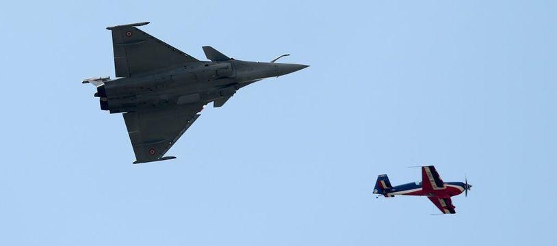 Image d'illustration d'un avion militaire Rafale, dont les ventes dopent les exportations.