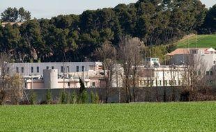 Luynes le 12 avril 2012 - Les surveillants de la maison d' arrêt de Luynes sont en grève et bloquent les accès