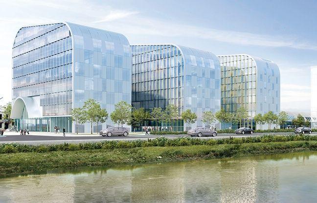 Image de synthèse du projet de Halle Boca, quai de Paludate à Bordeaux
