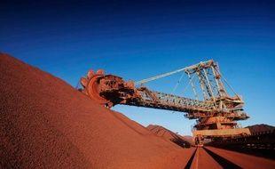 Photo fournie par le géant minier BHP Billiton, montrant la mine de minerai de fer de Mount Newman, en Australie occidentale