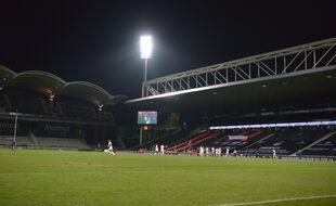 Le Matmut Stadium de Gerland, ici en janvier dernier à l'occasion d'un match du Top 14 entre le LOU et Castres.