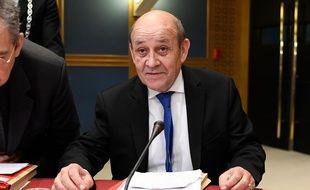 Jean-Yves Le Drian, ministre des Affaires étrangères, le 16 janvier 2019 au Sénat.