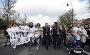 Marche blanche en hommage à Julie Douib le samedi 9 mars, à Vaires-sur-Marne, son village d'origine.