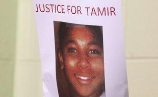 Message de soutien à Tamir Rice à Cleveland en décembre 2015.