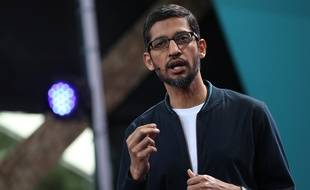 Le directeur général de Google, Sundar Pichai, à la conférence IO, le 18 mai 2016.