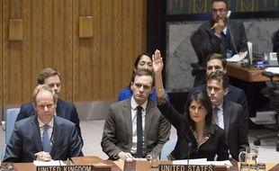 Le 18 décembre Nikki Haley (à droite), ambassadrice américaine à l'ONU, vote contre la résolution qui condamne la reconnaissance de Jérusalem comme capitale d'Israël.