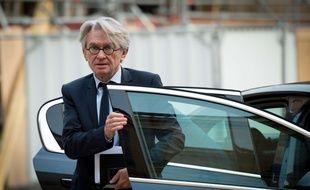 Jean-Claude Mailly dans la cour de l'Elysée, le 17 octobre 2017.