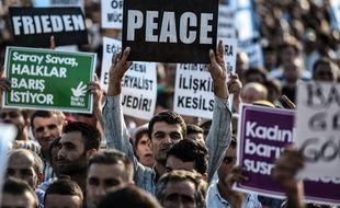 Lors d'une manifestation à Istanbul le 9 août.