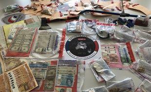 Les saisies réalisées par la police Marseillaise lors du démantèlement d'un gang de voleurs albanais.
