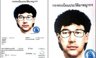 Le portrait-robot du principal suspect de l'attentat de Bangkok de Août 2015