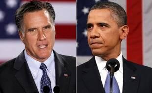 Mitt Romney et Barack Obama.