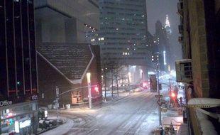 Les rues de New York dans la nuit du lundi 26 février 2015