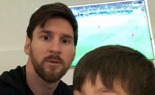 Lionel Messi après la naissance de son troisième enfant