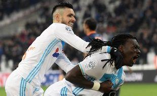 Rémy Cabella et Bafétimbi Gomis, vendredi 27 janvier.