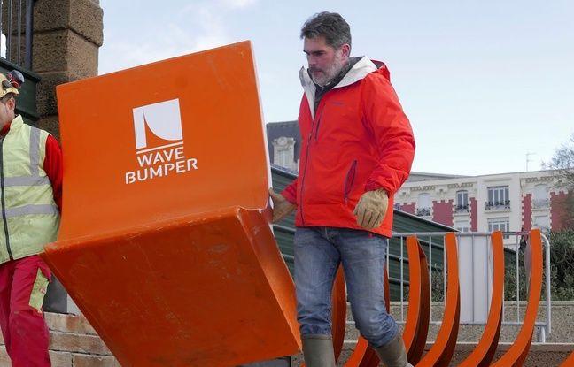 Wave Bumper est un système amovible de protection du littoral face aux aléas climatiques.