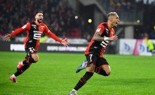 Le Brésilien Raphinha a signé un doublé vendredi soir lors de la victoire du Stade Rennais face à Nantes.