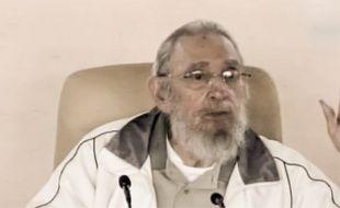 Fidel Castro s'est rendu dans une école de La Havacne le 7 avril 2016