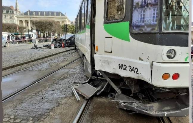 Accident de tramway sur la ligne 1, le 3 mars 2021 à Nantes.