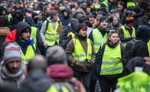 Manifestation de «gilets jaunes» à Paris le 2 février 2019.