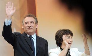 François Bayrou et Corinne Lepage en 2009 lors d'un meeting à Lille