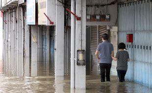 Les inondations en Malaisie en janvier 2021.